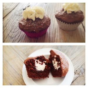 Chocolate Vanilla Creme Muffins