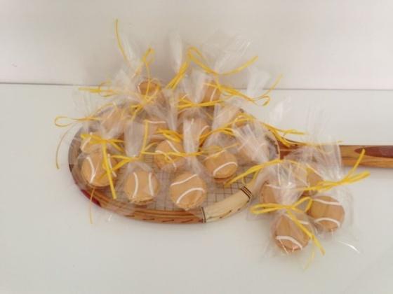 Tennisball-Macarons